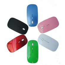 colorful 2.4GHz Wireless Optical Mouse Computer PC Mice with USB Adapter Mause for APPLE Macbook Mac Ultra Thin