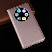 Slim Quick Smart Circle View Flip Cover Leather Case For LG G3 D855 D850 Phone Case Shell Bag Auto Sleep Wake Original Holster