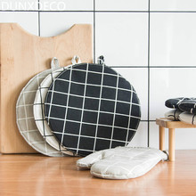 DUNXDECO Table Placemat Pot Pad Round Cotton Table Cover Fabric Hot Insulation Desk Accessories Round Nordic Modern Fashion Deco
