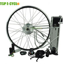 Waterproof 350W bicycle electric motor kit with lion battery