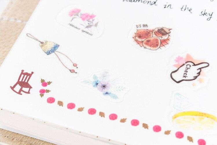 G3-29 40pcs //Pack Fresh Flamingos Adhesive DIY Sticker Stick Label Notebook