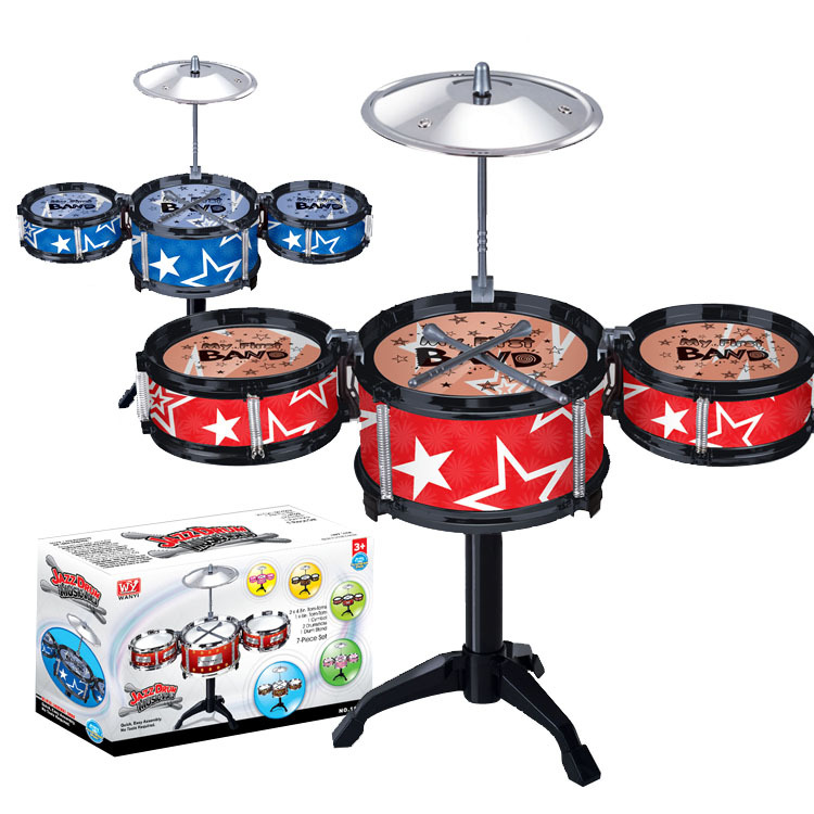 2018 New Wireless Instrument Toys for Girls boy Baby Classical Jazz Drum Drum Children Musical Birthday Present Kids Party Song