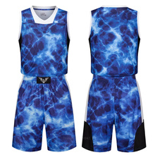 Men basketball clothing jersey set new boys college team training jersey suits breathable sports jersey uniforms Custom Name(China)
