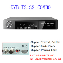 Hot Russian European Standard Digital Satellite Receiver Combo dvb t2 + S2 HD 1080P dvb-t2 tv Box H.264 / MPEG-2/4 / F1171