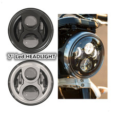 "For Jeeep Wrangler Harley Motorcycle 7"" Round Headlight Led for Hummer Toyota Defenderr 7 inch LED Harley Motorcycle Headlamp"