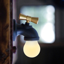 1 PCS Creative Faucet Type Voice Control LED Night Light Energy Save USB Rechargeable Tap Light Living Home Baby Sleep Use(China)