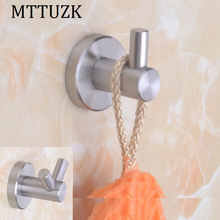 MTTUZK 304 Stainless Steel Robe Hooks Wall Hook brushed Clothes Hanger Towel Hooks Clothes Hooks Gancho Bathroom Accessories