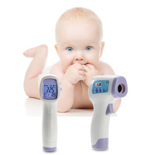 Large LCD Screen Forehead Baby Surface Temperature Digital Infrared Body Thermometer 32 ~42.9 Celsius Degree For Baby Care(China)