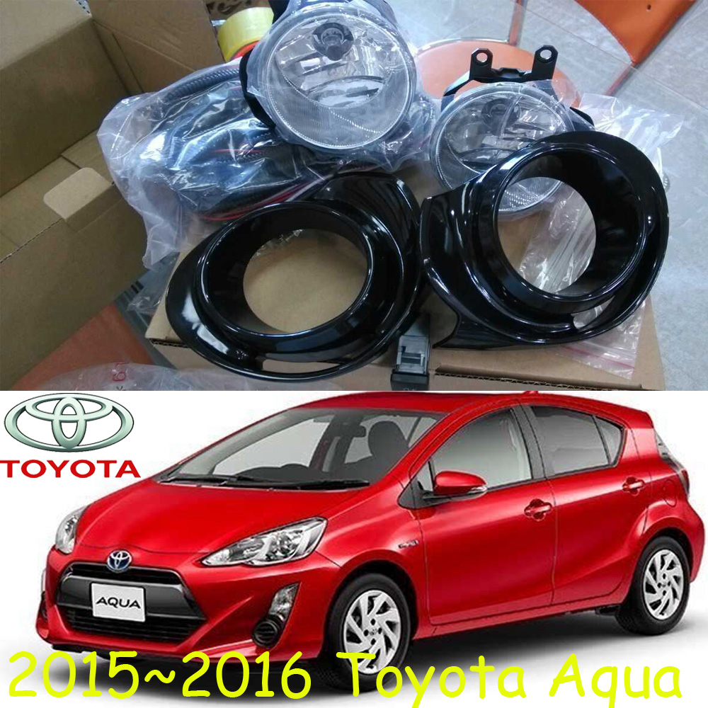 car-styling,Aqua fog lamp,215~2016,Halogen,2pcs/set+wire ON/FF,Aqua headlight,steering-wheel,Aqua front light<br>