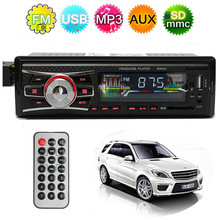 Car Stereo LCD Audio Headunit Radio SD FM USB MP3 Player AUX Non CD Reader Black