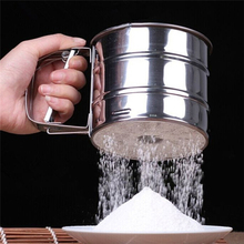 2016 Chocolate Shaker Cocoa Flour Salt Powder Icing Sugar Cappuccino Coffee Sifter Lid Hot Sale Cooking Stainless Steel Tools