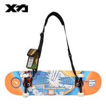 MACKAR Skateboard Longboard Shoulder Carrying Straps 1000D Nylon Men Fashion Skate Board Tape String with A Small Phone-Size Bag
