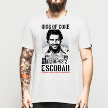 Fashion 3D Print Pablo Escobar T Shirt Men Colombian Drug Lord Cartel Money Men's T-Shirt Black Wyhite Camiseta Tshirt Plus Size