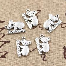 99Cents 6pcs Charms koala bear 20*14mm Antique Making pendant fit,Vintage Tibetan Silver,DIY bracelet necklace