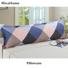 Cotton Double Pillowcase Couple Pure Cotton 1.2/1.5m Long Pillow Cases Colorful Big Grid