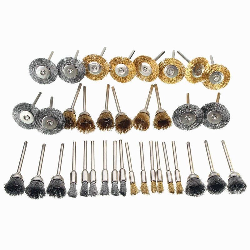 Wire Wheel Brushes  For Grinder Rotary Tools Mini Drill Polishing Descaling HZ