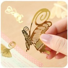 10 pcs/lot Mini Cute Metal Bookmark Clips Antique Plated Butterfly Bookmarks Card Chinese Style Stationery Free shipping 624