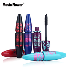 6pcs/lot Brand Makeup Set Mascara Black Long-Lasting Waterproof Mascara Fiber Lashes Eyelash Extension Volume Curling Cosmetics(China)