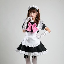 Shanghai Story High quality new women girl anime cosplay costume Lolita dress japanese Maid Costumes Coffee shop Uniforms set(China)
