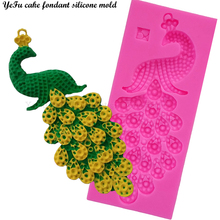 YeFu 3D gem Drop shape Peacock Lace Mat fondant silicone decoration mold DIY Cake Decorating Tools Baking mould T0519