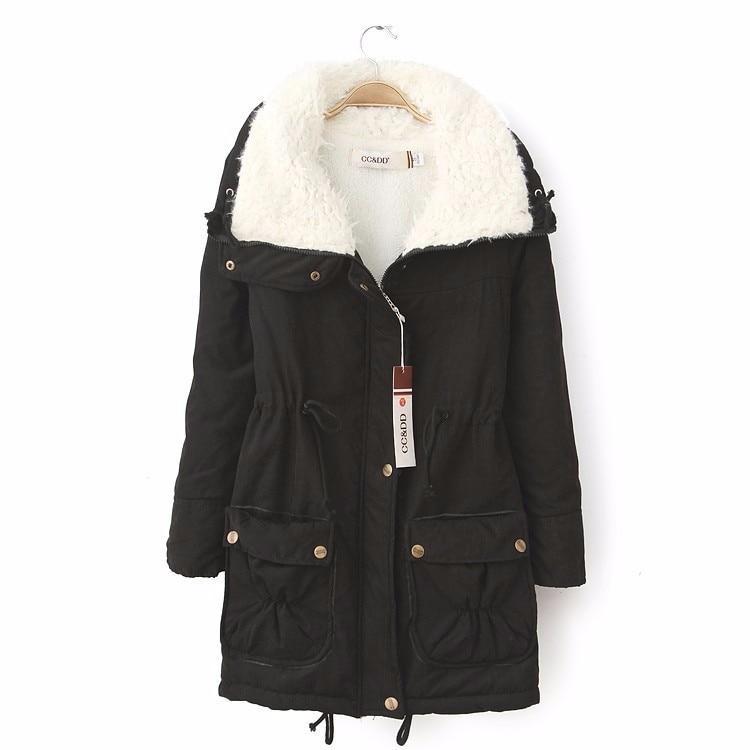 6 EXTRA LARGE Womens Winter Coat Jacket Woman Slim Padded Jacket Korean Coat Female Fur Collar Coat Long Sections Cashmere CoatÎäåæäà è àêñåññóàðû<br><br>