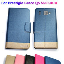 For Prestigio MultiPhone Grace Q5 PSP5506DUO / Ultra Thin Hot Luxury Fashion PU Leather Protection Case Cover / You choose color
