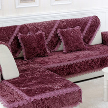 L Shaped  Sofa Cover Towel Pads Velvet Fabric Warm Corner Sofa Cushion Cover Sofa Protector Home Textile Living Room Decor T34