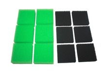 Compatible 6 x Green Nitrate and 6 x Black Carbon Aquarium Filter Sponge for Juwel Compact / Bioflow 3.0(China)