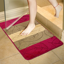 Cheap 1pcs Vertical Stripes Christmas Bath Decor Velvet Fabric Eco-Friendly Bathroom Toilet Mats Soft Warm Bathroom Set Carpet