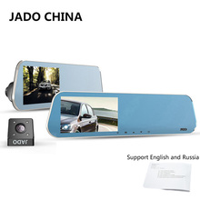 JADO D600 Car Camera Full HD 1080P Car Dvrs Dashcam Parking monitoring Registrar 4.3' Car Dvr Dual Lens Recorder Rearview Mirror(China)