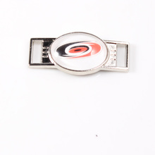 Carolina Hurricanes NHL Hockey Team Logo Oval Shoelace Charms For Sport Shoes And Paracord Bracelets Jewelry Decoration 6pcs(China)
