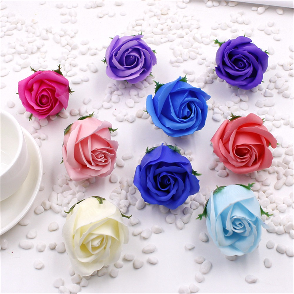 cheap 10pcs/lot 5cm New Hot Selling Wedding Decoration Simulation Rose Soap Flower Wedding Favors And Gifts(China (Mainland))