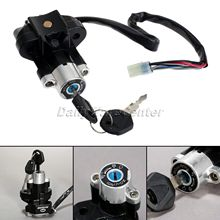 Aluminum Motorcycle Ignition Switch Lock with Keys for Suzuki GSXR 600 750 GSX-R600 GSX-R750 Pitbike Scooter Motorbike Parts cdi