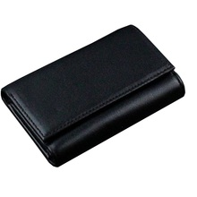 Men M B Car Key Zipper Wallet Coin Purse Apparel Sewing Fabric Genuine Leather
