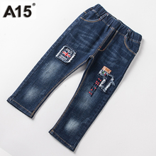 A15 Baby Boy Pants Cotton Ripped Pants Kids Jeans for Girls Toddler Boys Jeans Children Fashion Style Pants Clothing 2T 3 4 5 6T(China)