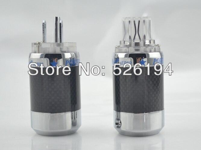 Free shipping Original MCA Hi-End platinum Plated  US Male AC power IEC Plug &amp; AC power plug<br>