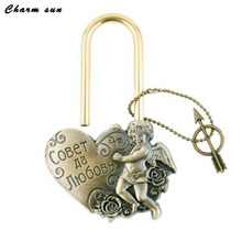 "Exclusive design souvenir charm ""Lock love"" Concentric lock the wedding decoration for Together forever original lock crafts"