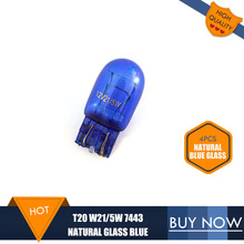 4PCS W21/5W 580 7443 T20 Xenon 12V 21/5W Double Filaments Natural Blue Glass Super White Car Light Bulbs DRL Bulbs Auto Lamps(China)