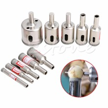 A96 10 pcs Diamond tool drill bit hole saw set for glass ceramic marble 6mm-32mm#XY#