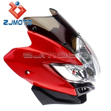 Red Street Fighter Motorcycle Headlight Fairing GSXR BANDIT SV 1000S SV650S Street Fighter Stunt Motorcycle Headlight(China)