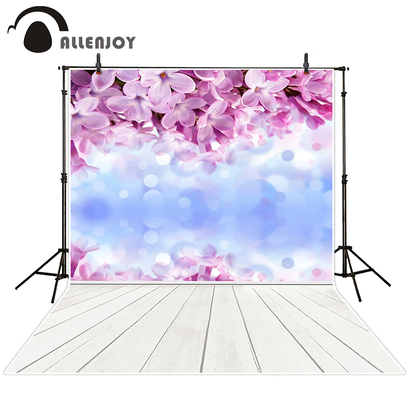 Allenjoy photographic background Flower fuzzy white wood backdrops children kids summer customize 10x20<br><br>Aliexpress