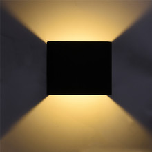 Square LED Wall Lamp Modern Creative Aluminum Wall Light for Outdoor Indoor Balcony Corridor Bedroom Bedside Artistic Lights