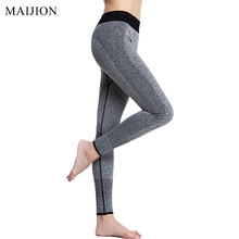 Buy MAIJION Fitness Women Running Tights Pants Elastic Sports Pants, Seamless Fitness Sports Yoga Legging 9 Minutes Pants for $7.58 in AliExpress store