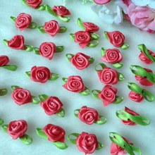 Buy HL 100pcs Watermelon Ribbon Rose Handmade Flowers Garment Supplies Sewing Appliques Diy Accessories Wedding Decoration A420 for $4.13 in AliExpress store