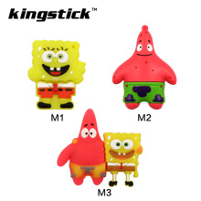 Cartoon mini pen drive 4gb 8gb 16gb SpongeBob Patrick Star gift pen drive 32gb 64gb usb flash drive cheap pendrive(China)