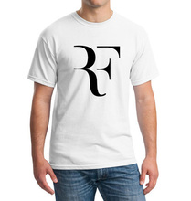 Summer Fashion RF T shirt Men Roger Federer shirt Brand 100% Cotton High Quality Short sleeve Clothing tops tees