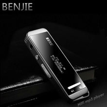 Mini portable BENJIE N9000 real 8GB lossless HiFi sport MP3 Music player High sound quality All-alloy MP3 one-key voice recorder(China)