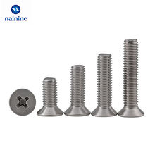 10/20/50Pcs M2 M2.5 M3 M4 M5 M6 DIN965 GB819 304 Stainless Steel Flat Head Countersunk Phillips Machine Screws HW029(China)