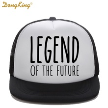 DongKing Kids Trucker Hat LEGEND OF THE FUTURE Print Girl Boy Baby Son Baseball Caps Top Quality Snapback Funny Summer Gift(China)