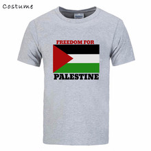 Freedom for Palestine Flag 3D print Tee Shirt Men's Printing Short Sleeve Cotton Guardians Galaxy male T tshirt real madrIDS bts(China)